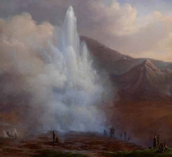 Frederik Theodor Kloss - Store Geysir på Island (Quelle: Wikimedia Commons)