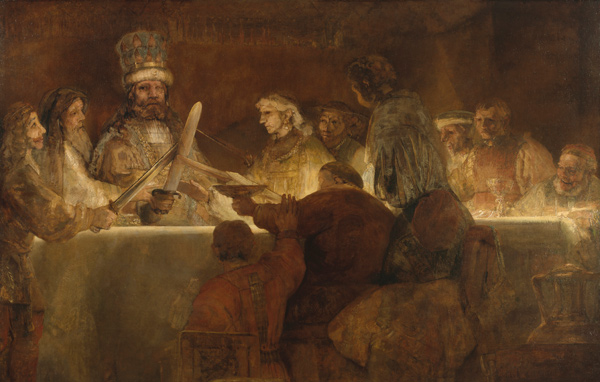 Rembrandt - The Conspiration of the Bataves (Quelle: Wikimedia Commons)