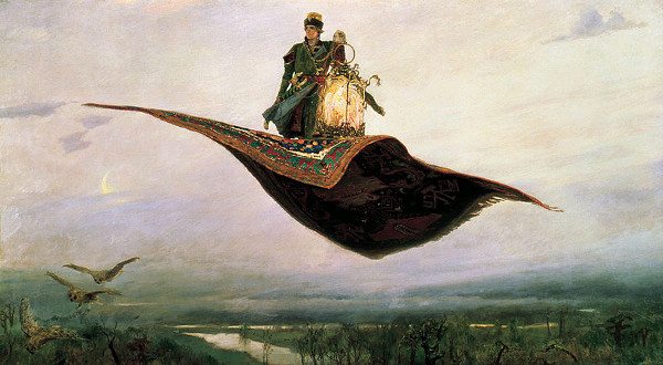 Viktor M. Vasnetsov - The flying carpet (Quelle: Wikimedia Commons)