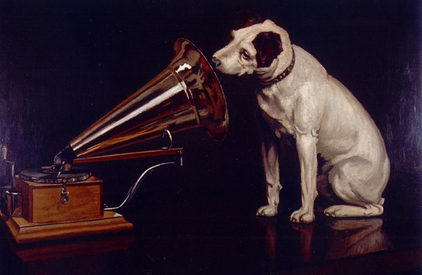 Francis Barraud - His Master's Voice (Quelle: Wikimedia Commons)