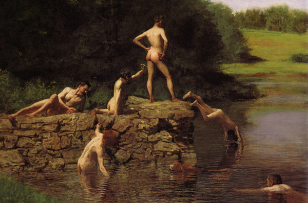 Thomas Eakins - The swimming hole (Quelle: Wikimedia Commons)