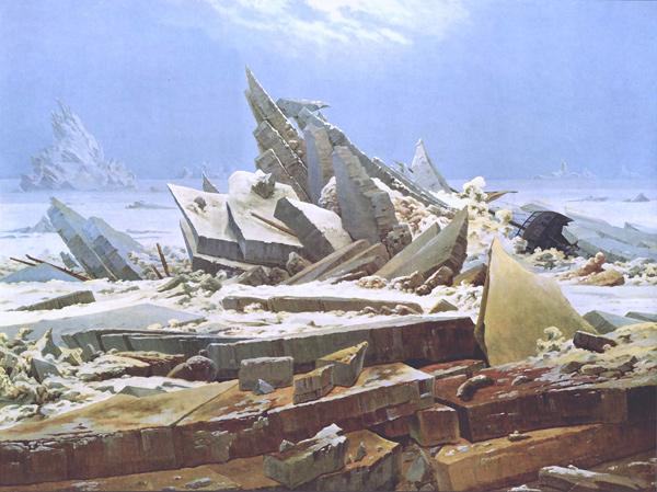 Caspar David Friedrich: Das Eismeer (Quelle: Wikimedia Commons)