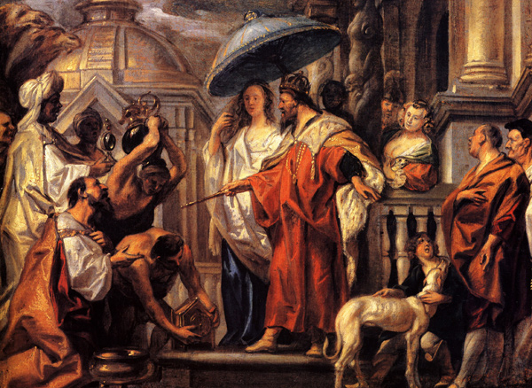 Jacob Jordaens - The tribute the Caliph Harun al-Rashid to Charlemagne (Quelle: Wikipaintings)