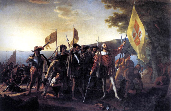 John Vanderlyn - Columbus Landing at Guanahani (Quelle:  Wikimedia Commons)