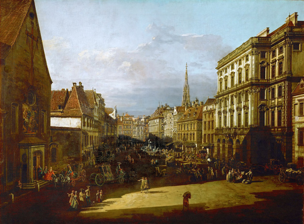 Bernardo Bellotto - Ansicht von Wien (Quelle: Wikimedia Commons)