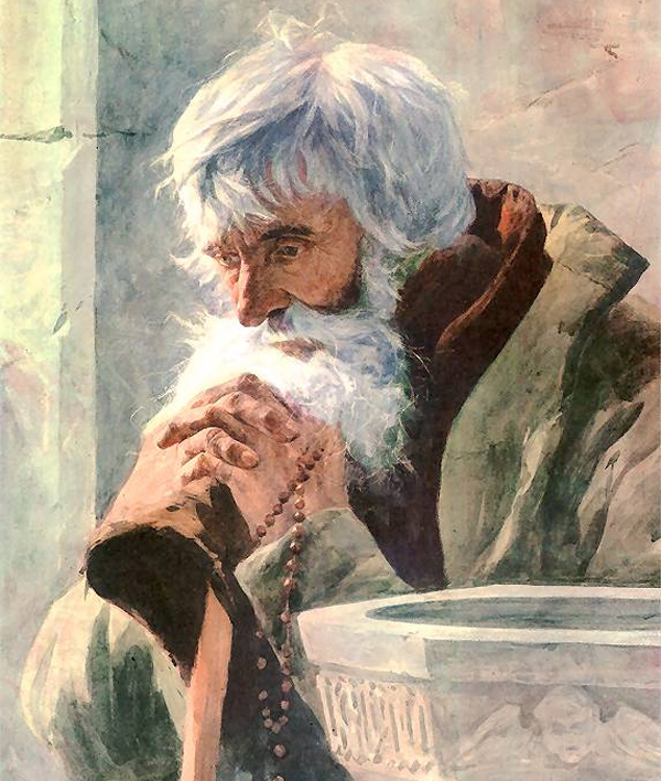 Julian Fałat - Old man praying (Quelle: Wikimedia Commons)