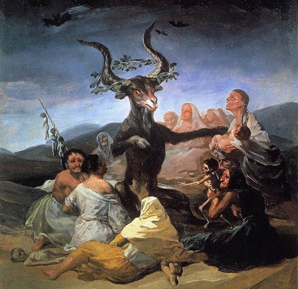 Francisco Goya - El Aquelarre (Quelle: Pickwick Art Blog)