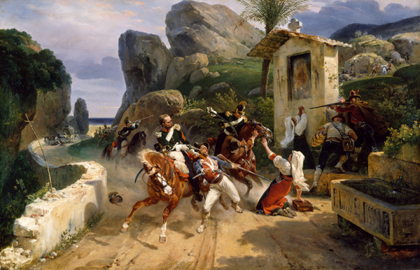 Horace Vernet - Italian Brigands Surprised by Papal Troops (Quelle: Wikimedia Commons)