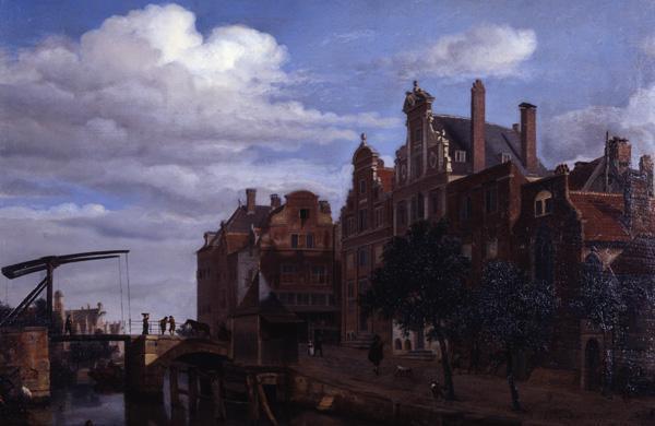 Adrien van de Velde View in Amsterdam (Quelle: Wikipaintings)