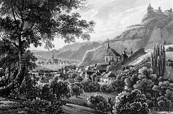 Karl Bodmer - Traben Trarbach (Quelle: Wikipaintings)