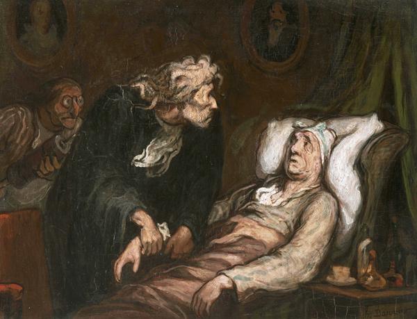 Honoré Daumier - Le malade imaginaire (Quelle: Wikimedia Commons)