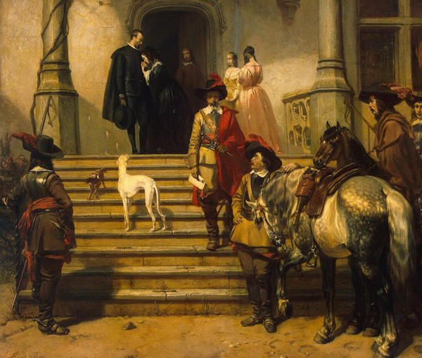 Florent Willems - Arrest Scene from Musketeer's Life (Quelle: Wikimedia Commons)