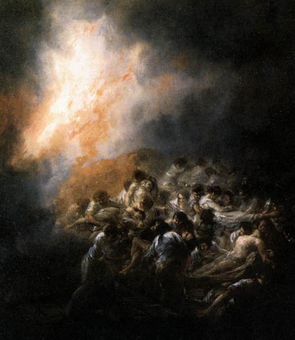 Francisco Goya - Fuego en la Noche (Quelle: Wikipaintings)