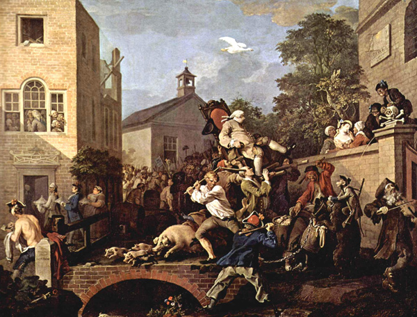 William Hogarth - Chairing the Member (Quelle: Wikimedia Commons)