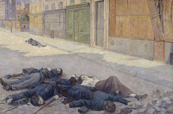 Maximilien Luce - Une rue de Paris en mai 1871 (Quelle: Wikimedia Commons)