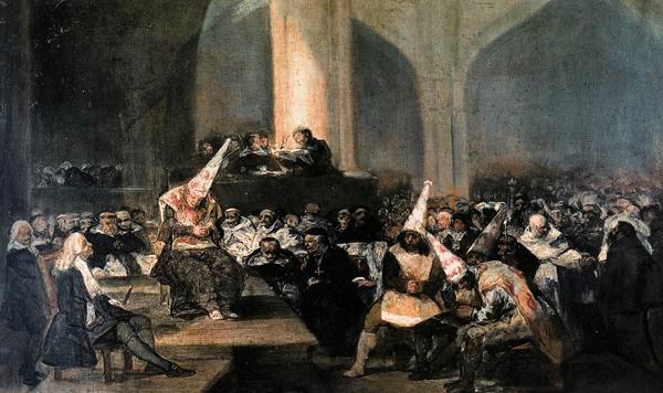 Francisco Goya - Tribunal de la Inquisición o Auto de fe de la Inquisición (Quelle: Wikipainting)