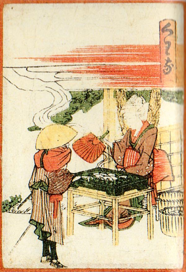 Hokusai - Kuwana (Quelle: Wikipaintings)