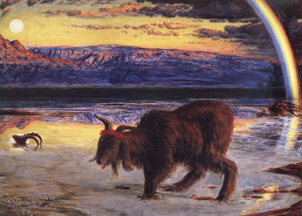 William Holman Hunt - The scapegoat (Quelle: Wikipaintings)