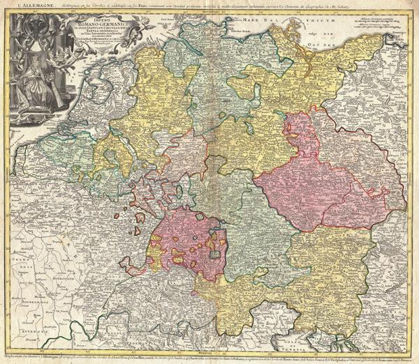 Johann Homann - Imperii Romano-Germanici (Quelle: Wikimedia Commons)