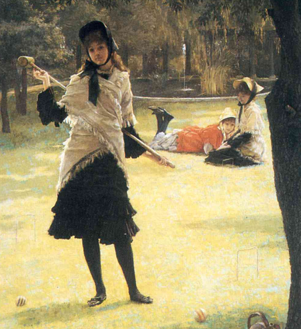 James Tissot - Croquet (Quelle: Wikipaintings)