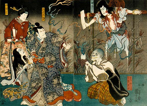 Utagawa Kuniyoshi - The ghosts of Togo and his wife (Quelle: Wikipaintings)