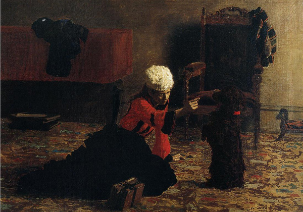 Thomas Eakins - Elizabeth Crowell with a Dog (Quelle: Wikipaintings)