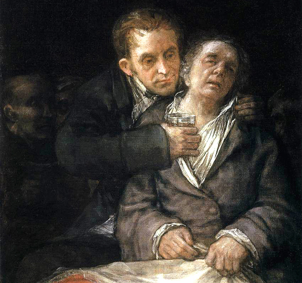 Goya - Goya Attended by Doctor Arrieta (Quelle: Wikipaintings)