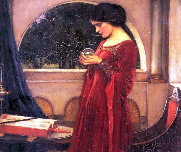 John William Waterhouse - Crystal Ball (Quelle: Wikipaintings)