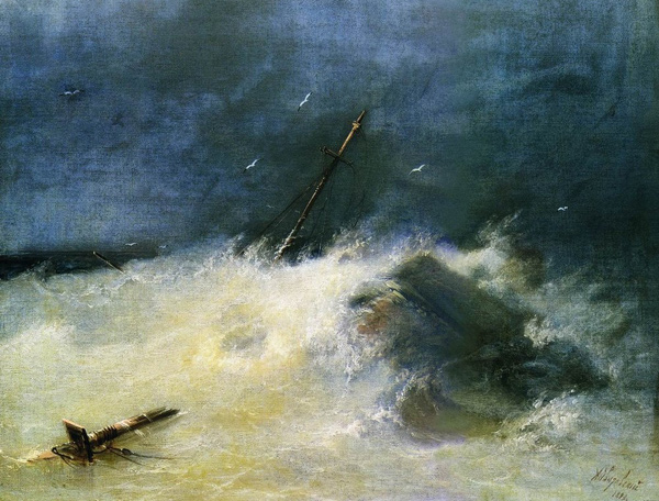 Ivan Aivazovsky - Storm at Sea (Quelle: Wikipaintings)