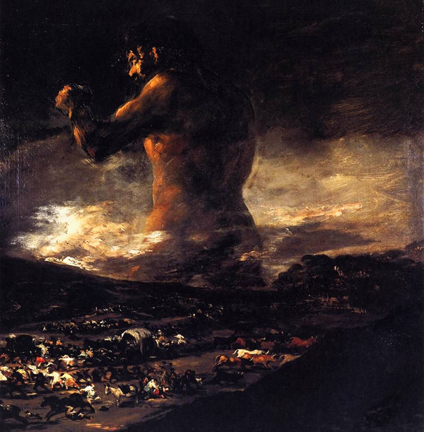 Francisco Goya - The Colossus (Quelle: Wikimedia Commons)