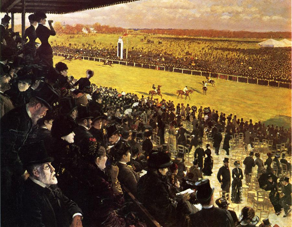 Giuseppe de Nittis - The Races at Longchamps (Quelle: Wikipaintings)