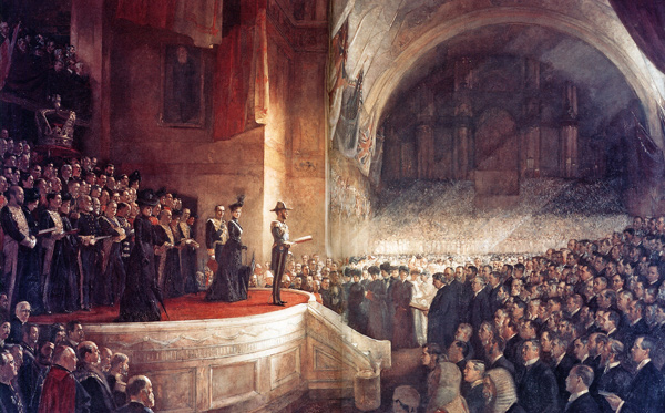 Tom Roberts - The Opening of the Parliament of Australia (Quelle: Wikimedia Commons)