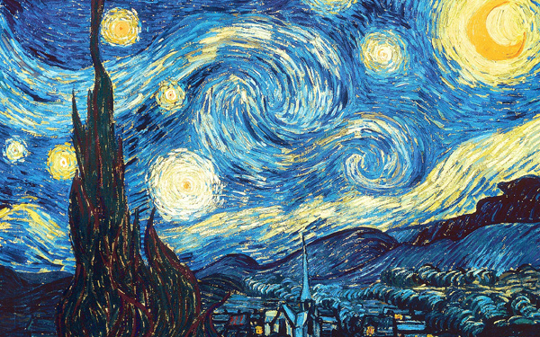 Vincent van Gogh - Starry Night (Quelle: Wikipaintings)