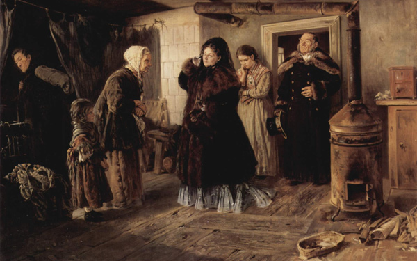 Vladimir Makovsky - Visiting the poor (Quelle: Wikipaintings)