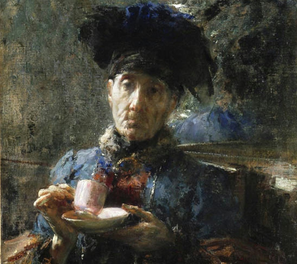Antonio Mancini - Old Woman Drinking Tea (Quelle: Artmuseum.cn)