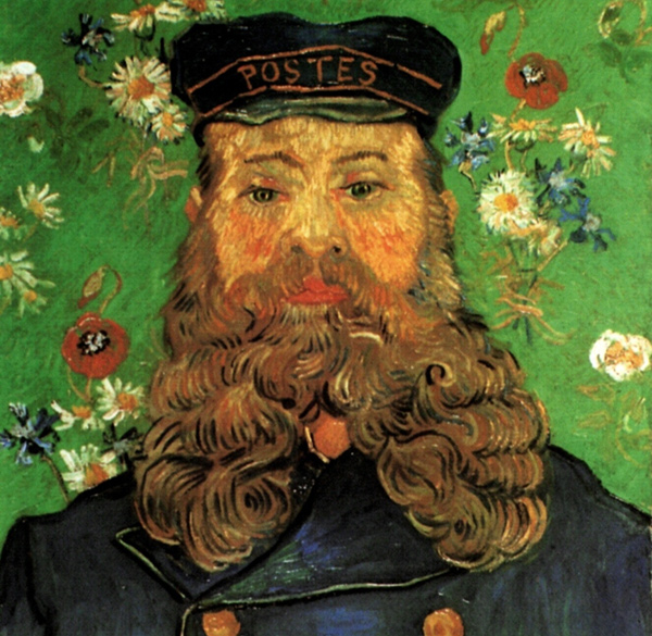 Vincent van Gogh - Portrait of the Postman Joseph Roulin (Quelle: Wikipaintings)