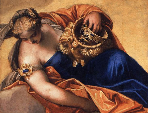 Paolo Veronese - Juno Showering Gifts on Venetia (Ausschnitt) (Quelle: Wikipaintings)