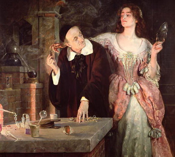 John Collier - The Laboratory (Quelle: Wikipaintings)