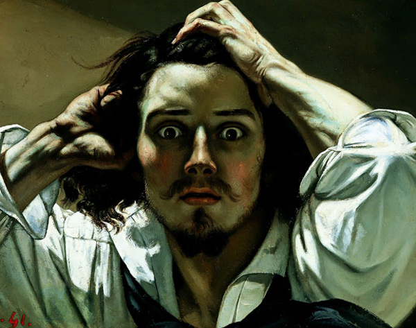 Gustave Courbet - The desperate man (Quelle: Wikipaintings)