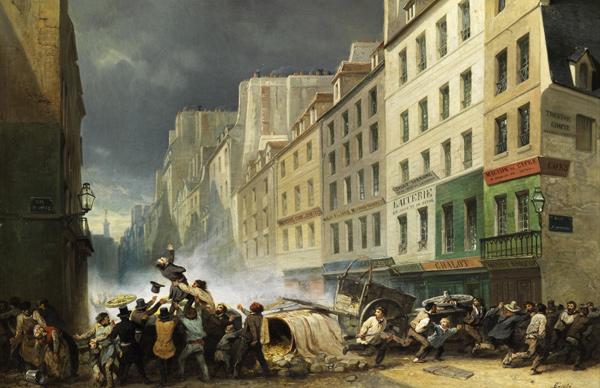 Nicholas-Edward Gabé - Revolution Juillet 1830 (Quelle: Wikimedia Commons)