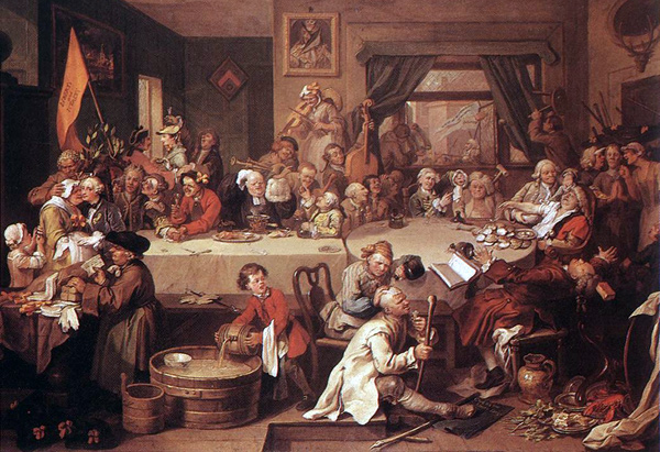 John Hogarth - An election entertainment (Quelle: Wikimedia Commons)