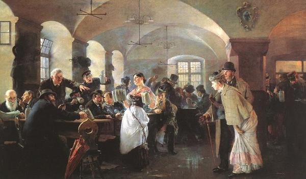 Philip de Laszlo - Hofbräuhaus (Quelle: Wikipaintings)
