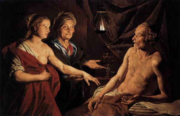 Matthias Stom - Sarah Leading Hagar to Abraham (Quelle: Wikimedia Commons)