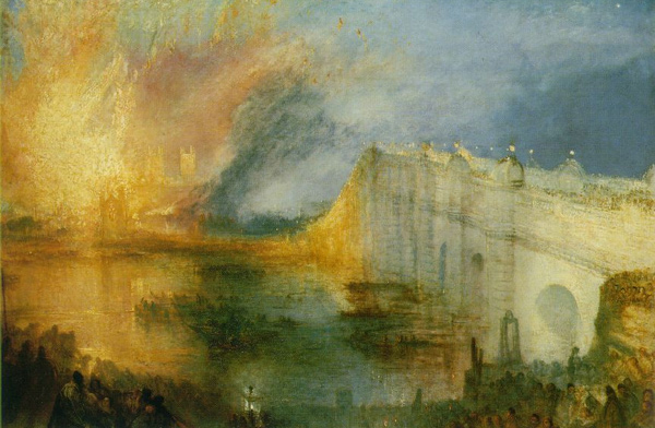 William Turner - The Burning of the Houses of Lords and Commons (Quelle: Wikimedia Commons)
