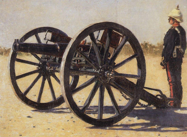 Vasily Vereshchagin - Cannon (Quelle: Wikipaintings)