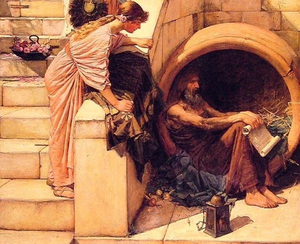 John William Waterhouse - Diogenes (Quelle: Wikimedia Commons)