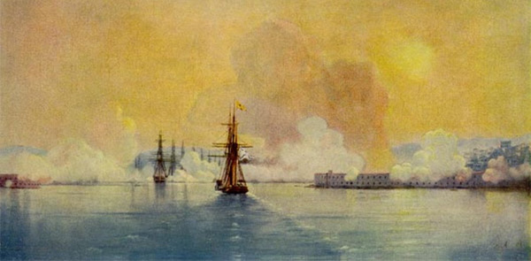 Ivan Aivazovsky - Arrival into Sevastopol Bay (Quelle: Wikipaintings)