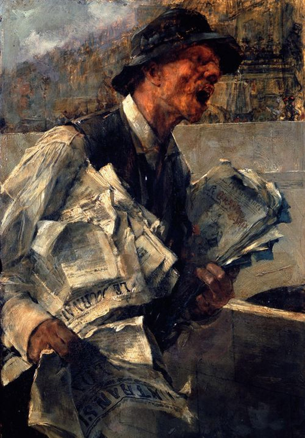 Giovanni Boldini - The newspaperman/The newspaper (Quelle: Wikipaintings)