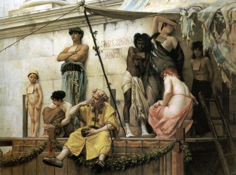 Gustave Boulanger - Le marchè d'esclaves (Quelle: Wikipaintings)
