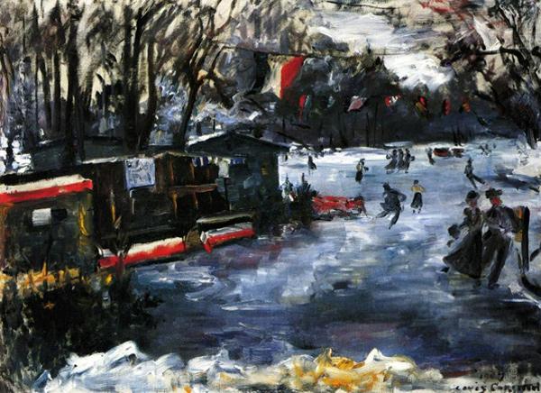 Lovis Corinth - Eislaufen im Tiergarten (Quelle: Wikipaintings)